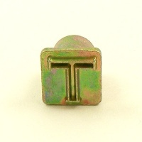 12mm Modern Letter T Embossing Stamp