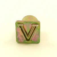 12mm Modern Letter V Embossing Stamp