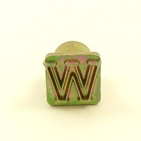 12mm Modern Letter W Embossing Stamp