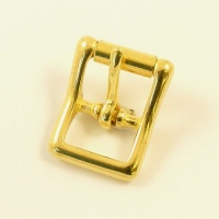 16mm Cast Brass Whole Roller Buckle