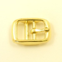 Double Bar Buckle Brass Plated 16mm