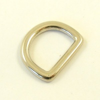 16mm 5/8'' Nickel Plated Shallow D Ring