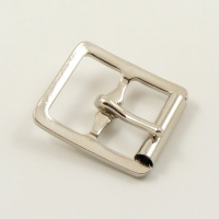 16mm Stamped Whole Roller Buckle - Nickel Plate