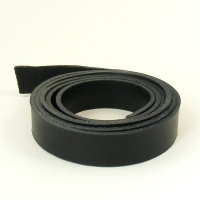 2 - 2.5mm Black Vegetable Tanned Leather Strip