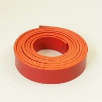 2 - 2.5mm Red Lamport Leather Strip
