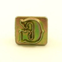 20mm Decorative Letter G Embossing Stamp
