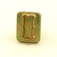 20mm Decorative Letter I Embossing Stamp