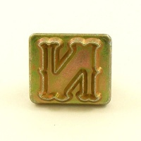 20mm Decorative Letter N Embossing Stamp