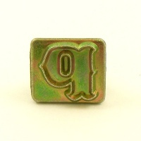20mm Decorative Letter P Embossing Stamp