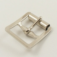20mm Stamped Whole Roller Buckle - Nickel Plate