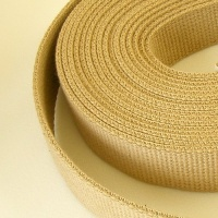25mm Heavy Cotton Webbing Sand 2 Metres