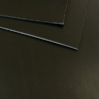 2 - 2.5mm SECONDS Black Vegetable Tanned Leather 30 x 60cm
