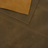 2mm Natural Brown Rustic Style Leather 30 x 60cm