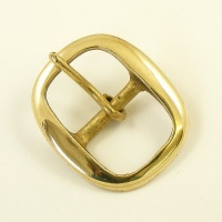 25mm Oval Brass Swage Buckle