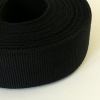 SALE 38mm Heavy Cotton Webbing Black 2 Metres
