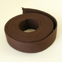 SALE 38mm Heavy Cotton Webbing Choc Brown 2 Metres