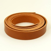 2.8-3mm Mid Tan Vegetable Tanned Leather Strip