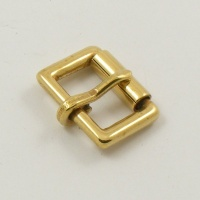 16mm 5/8'' Cast Brass Single Roller Buckle