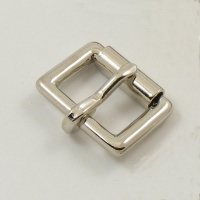 16mm 5/8'' Nickel Plated Single Roller Buckle