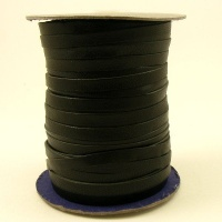 6mm Flat Black Leather Lacing 5 Metres