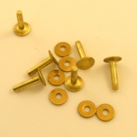 8 Gauge  (Medium) Ivan Brand Brass Rivets - Pack of 6