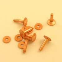 8 Gauge  (Medium) Ivan Brand Copper Rivets - Pack of 6