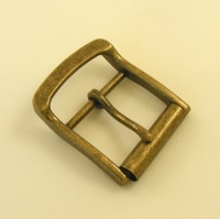 Antiqued Brass Finish Roller Belt Buckle 1 1/2 inch 38mm