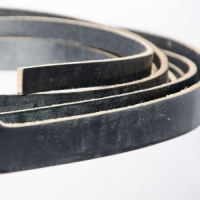 EXTRA LONG Black 4mm HEAVY Saddlery Leather Strips
