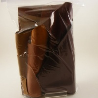 0.6-1mm THIN Leather Pieces Black Brown & Tan 350g Pack