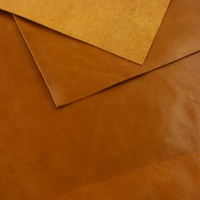 0.8-1mm Glossy Cowhide Tan A4