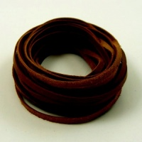 5 Metres Flat Choc Brown Leather Lacing 3.5mm x 1.2mm