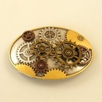 Moving Cogs Oval Buckle 1 1/2 inch 38mm