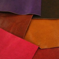 1.2mm Coloured Crease Textured Vegetable Tanned Pieces 350g