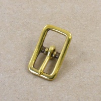 12mm Cast Brass Whole Halter Buckle
