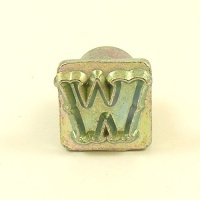 12mm Decorative Letter W Embossing Stamp