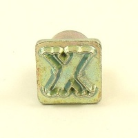 12mm Decorative Letter X Embossing Stamp