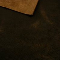 1.8-2mm Dark Brown Crease Texture Rustic Style Leather A4