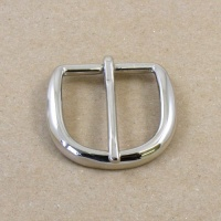 1/3 OFF Nickel Plated Curved Belt Buckle 1 1/2'' 38mm