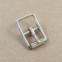 16mm HEAVY Nickel Plated Whole Roller Buckle