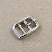 12mm Nickel Plated Double Bar Buckle