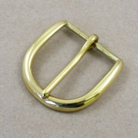 Solid Brass Curved Belt Buckle 1 1/2'' 38mm