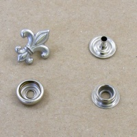 Decorative Press Stud Fleur De Lys