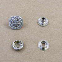 Decorative Press Stud Celtic Knot