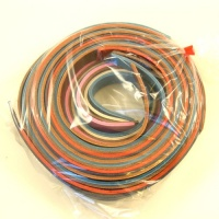 25mm Leather Strips Mixed Colours 500g Pack