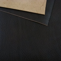 1.5-1.7mm Dark Brown Soft Feel Vegetable Tanned Leather A4 Size