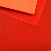 1.5-1.7mm Red Soft Feel Vegetable Tanned Leather A4