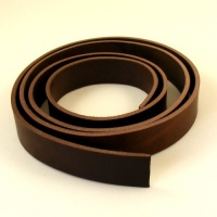 2.8-3mm Dark Brown Matt Rustic Belt Strip