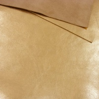 1mm Metallic Gold Foiled Leather A4