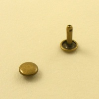 12mm Double Cap Antiqued Brass Rivets Pack of 100