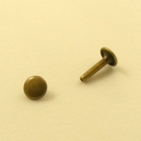 15mm Double Cap Antiqued Brass Rivets Pack of 100